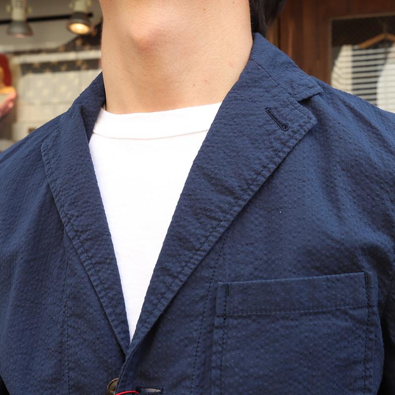 Candidum シアサッカーシャツジャケット C191139