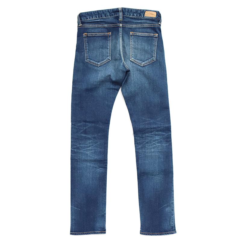FOBファクトリー ストレッチスリムストレートジーンズ G1138(色落ち加工)(Ladies)