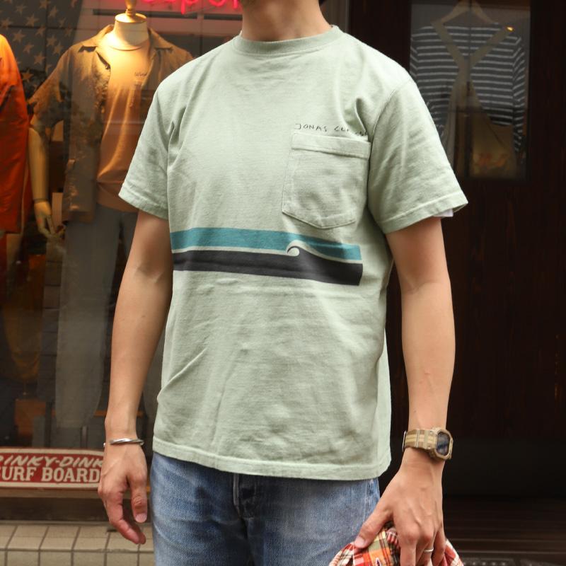 GOOD WEAR JONAS CLAEASSON/グッドウェア ジョナスクレアッソン ポケットTEE WAVE LINE