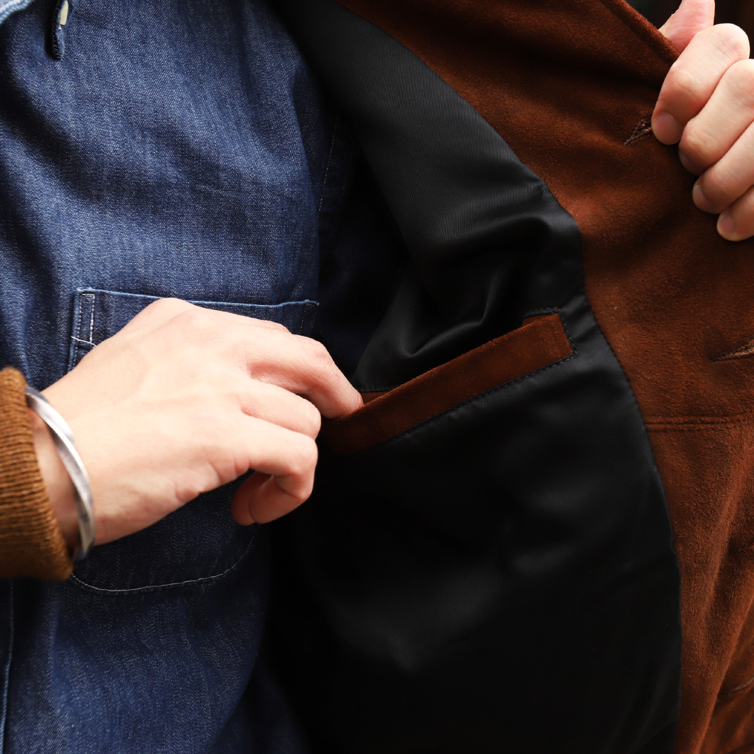 GB Sports/ジービースポーツ Driving Jacket  Goat Suede Brown