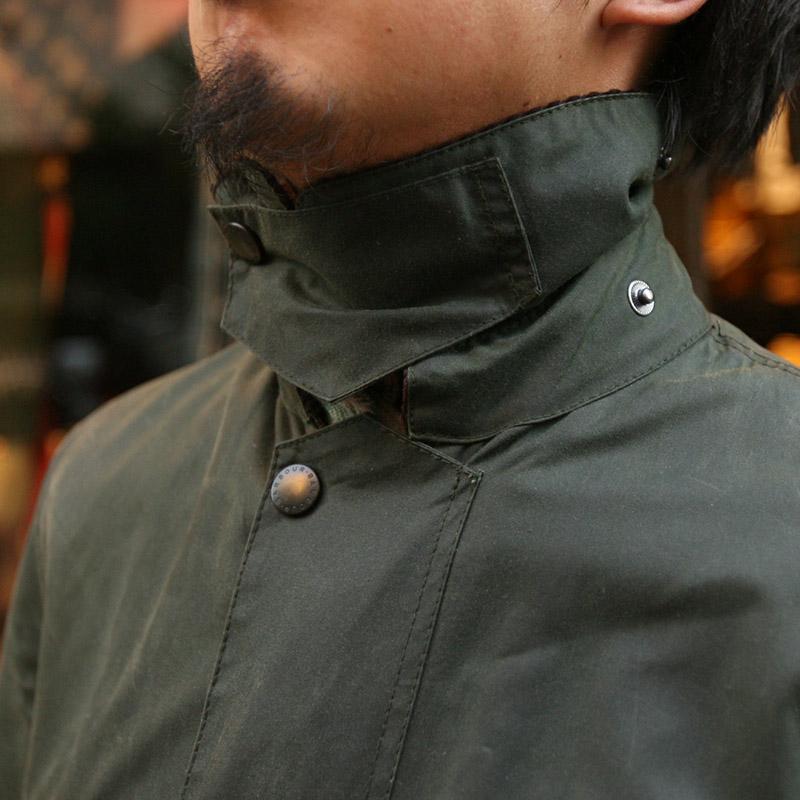 Barbour(バブアー) BORDER SL ボーダースリム ロング丈 オイルドジャケット