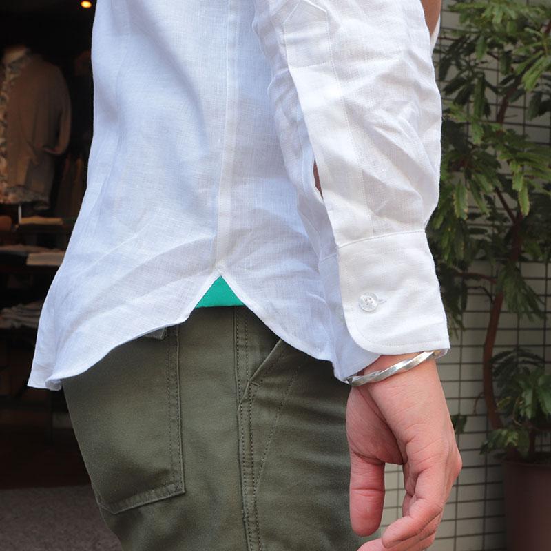 James Mortimer(ジェームスモルティマー) アイリッシュリネン レギュラーカラーシャツ