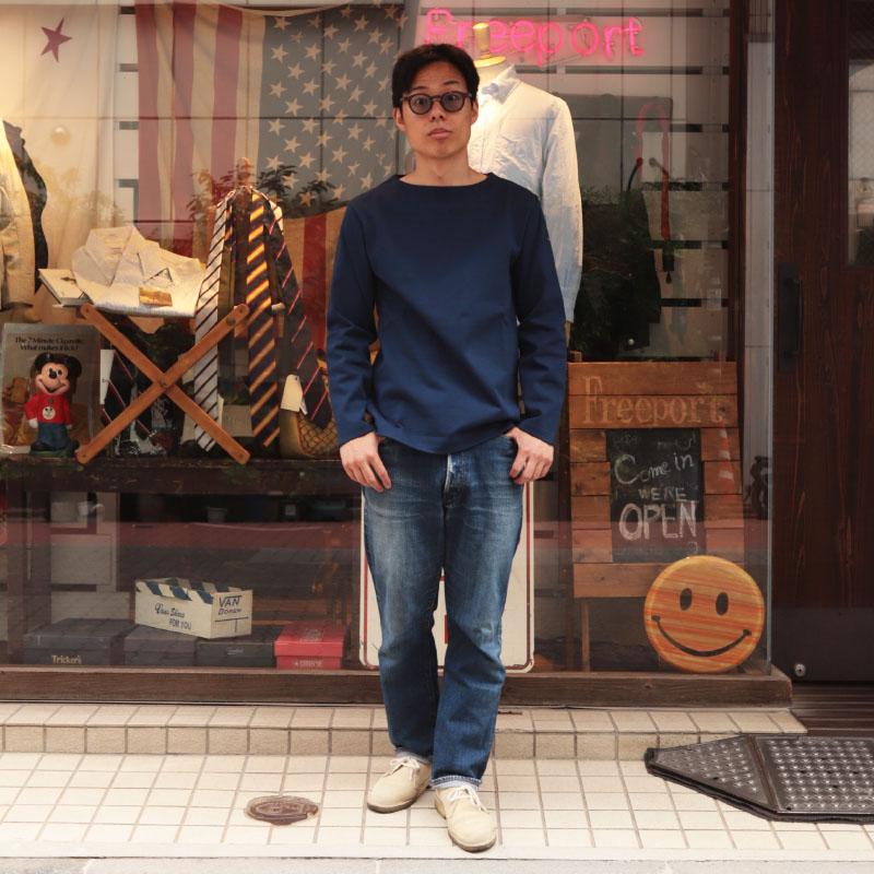 Leminor/ルミノア バスクシャツ 無地 カットソー