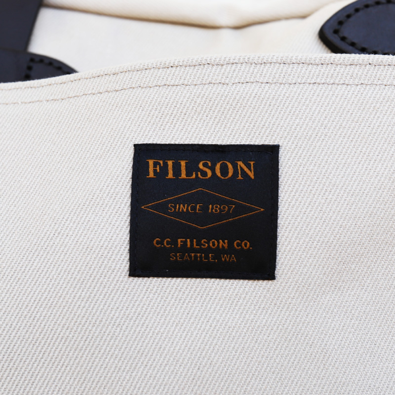 FILSON/フィルソン TOTEBAG WITHOUT ZIPPER IVORY (オープントート)