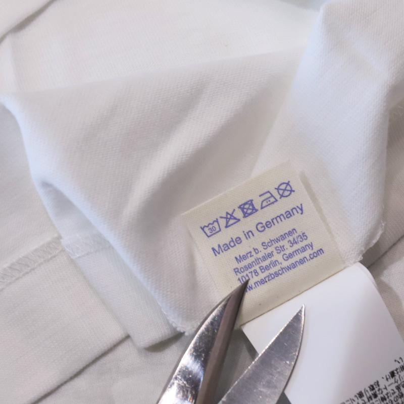 Merz b.Scwanen /メルツ Pocket Rundhals Tee 1/4 Arm ポケTee 215P
