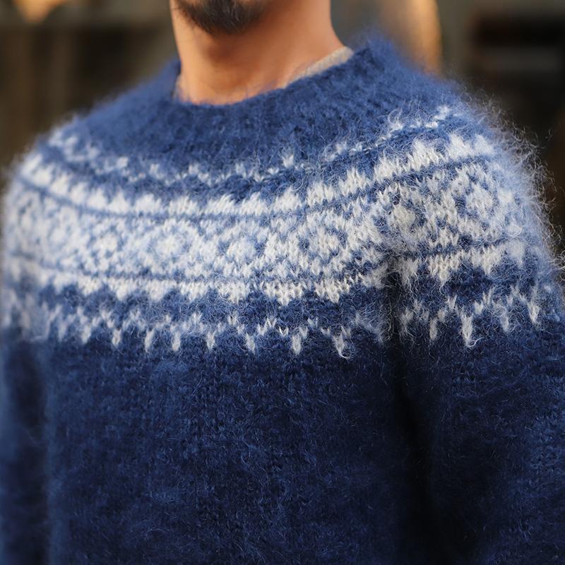 Harley of Scotland(ハーレーオブスコットランド) Mohair Sweater