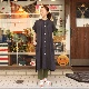 DMG Linen Stand Collar S/S One Piece/ディーエムジー リネンワンピース