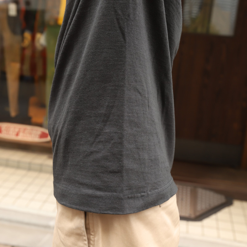 BRS 吊り編み Crew Neck Pocket Tee woman