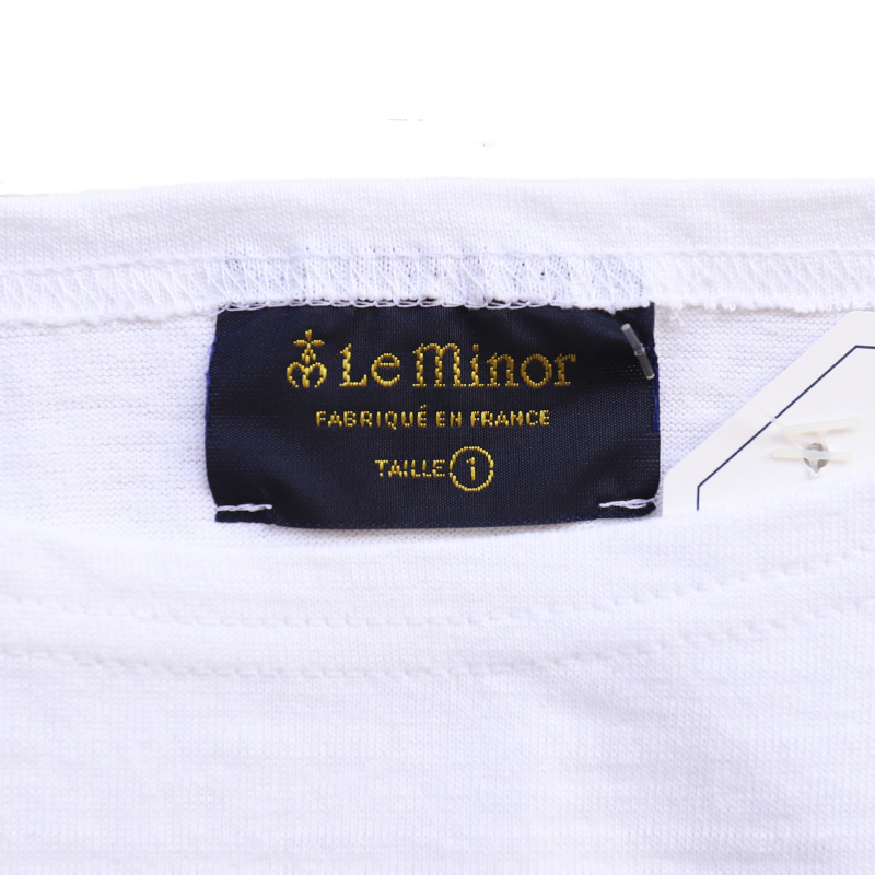 Leminor/ルミノア 半袖パネルボーダーカットソー LEF101008