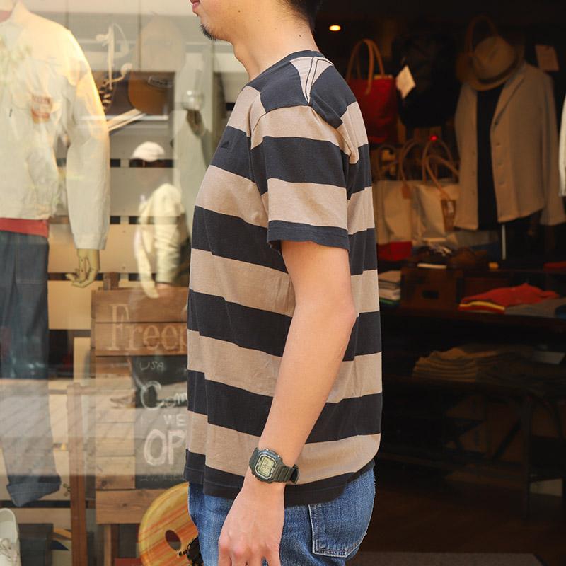 SALVAGE PUBLIC(サルベージ パブリック) ブロックストライプ Tシャツ
