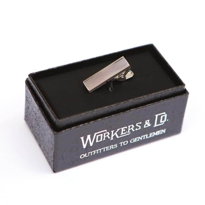 WORKERS(ワーカーズ) Short Tie Clip Borderショート タイクリップボーダー