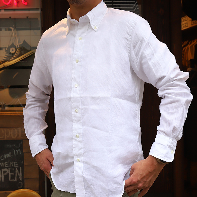SOUTIENCOL /スティアンコル San Francisco CANCLINI リネン ボタンダウンシャツ 20030-S