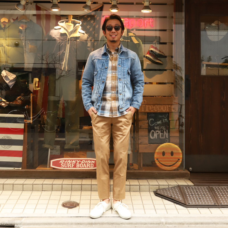 WORKERS/ワーカーズ Modified BD Big Plaid ボタンダウンシャツ