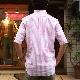 SOUTIENCOL RE-MAKE POLO Long-H Grandi&Rubinelli Cotton Stripe Pink /スティアンコル リメイクポロ ロングハーフスリーブ