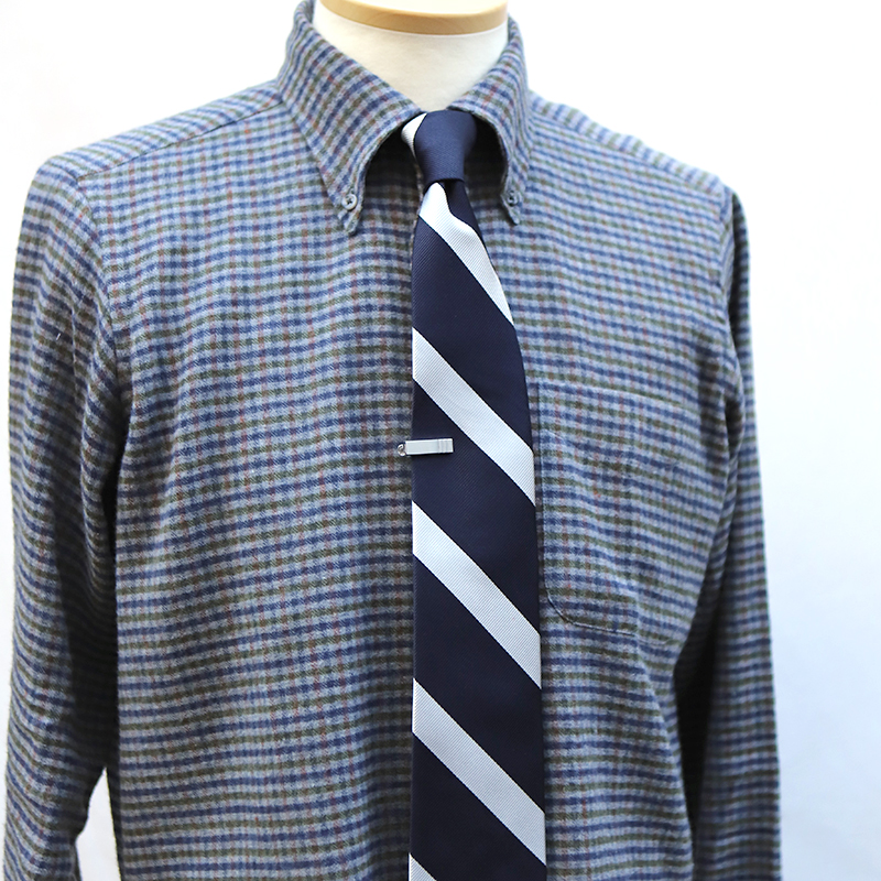 WORKERS(ワーカーズ) Sort Tie Clip Stripeショート タイクリップストライプ
