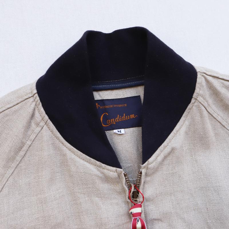 Candidum/カンディダム リネンブルゾン C201270