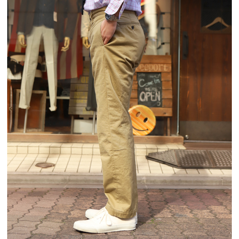 FOBFACTORY HERITAGE CHINO TROUSERS F0482
