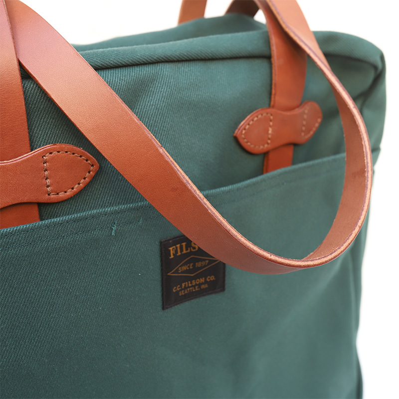 FILSON/フィルソン TOTEBAG WITH ZIPPER GREEN