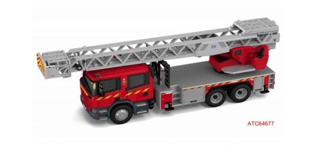 新品ATC64677 タイニー   Tiny City No.199 スカニア 香港消防局 はしご消防車 55M (F6003)