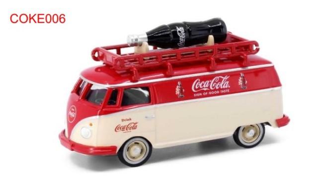 新品 COKE006 タイニーCity  フォルクスワーゲン T1 コカ・コーラ 1950年代 ボトル付き