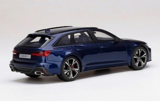 予約 TS0315 TopSpeed 1/18 アウディ RS 6 アバント カーボンブラック ナバラブルーメタリック