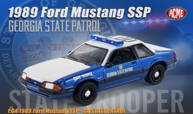 予約 GL-51408 ACME 1/64 フォード Mustang SSP 1989 Georgia State Patrol