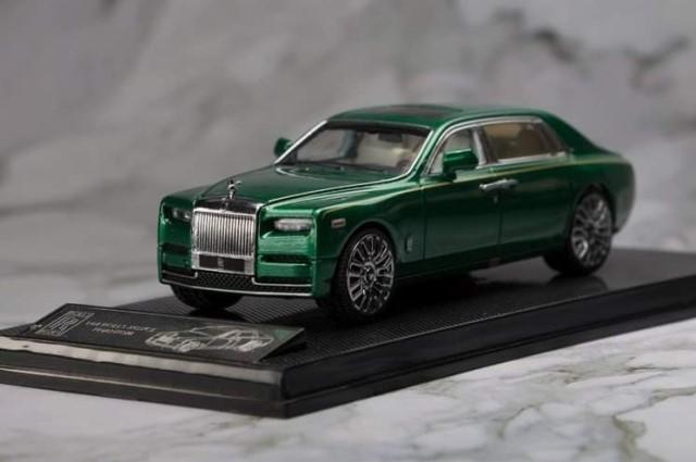 新品SK164005SG Small Cart 1/64 ロールス ロイス Rolls-Royce Phantom 8 ロールス ロイス ファントム British Green