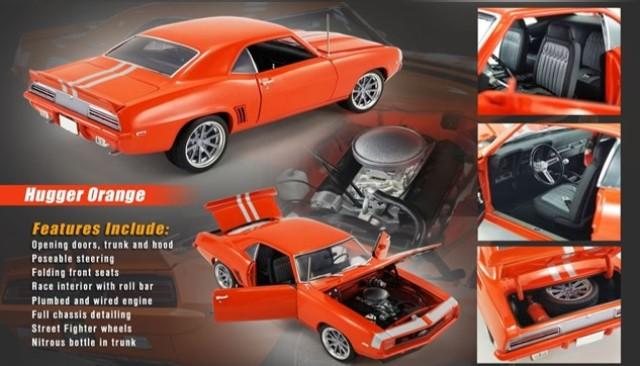 予約 A1805720 ACME 1/18 シボレー Camaro Restomod 1969 Hugger Orange