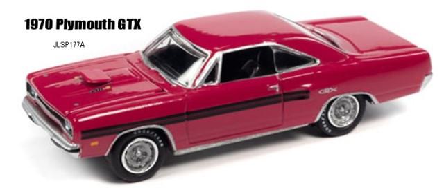 予約 JLSP177A Johnny Lightning 1/64 プリムス 1970 GTX ムーランルージュ/ブラックライン