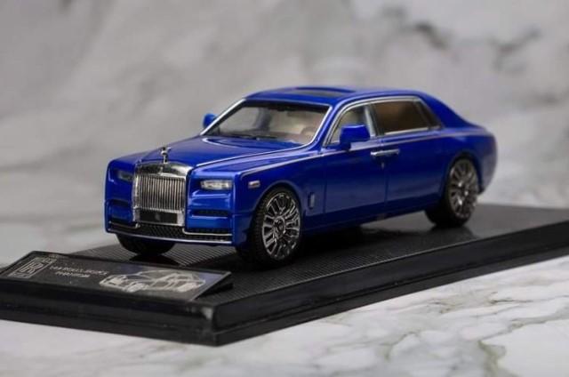 新品SK164005BE Small Cart 1/64 ロールス ロイス Rolls-Royce Phantom 8 ロールス ロイス ファントム Blue