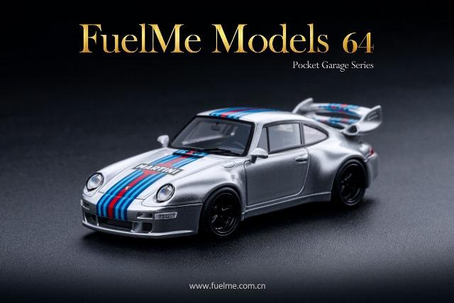 新品 FM64005PG-K Fuelme Models 1/64 ポルシェ ガンサーワークス Porsche GW Gunther Werks 400R マルティーニ Martini