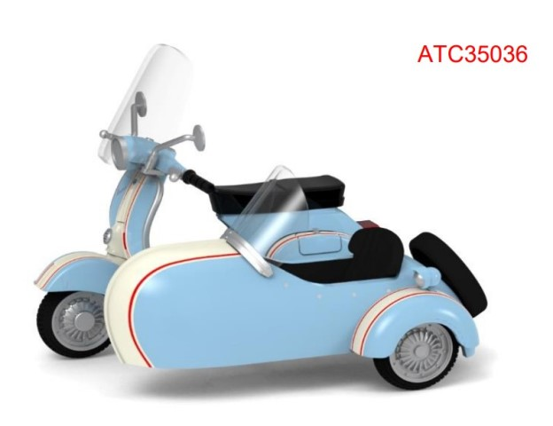予約 ATC35036 タイニーCity   No.108 Vespa サイドカー付き