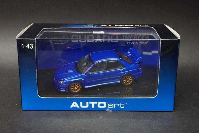 1/43 オートアート 58681 スバル インプレッサ WRX STi 2006 ブルー