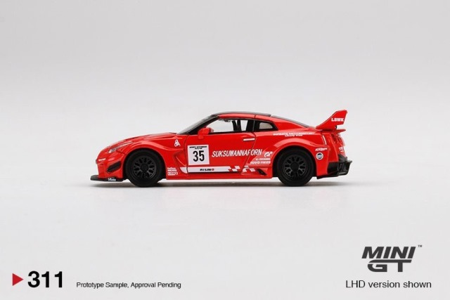 予約  TSM MINI-GT LBWK限定 1/64 日産 LB-Silhouette WORKS GT 35GT-RR バージョン1 Infinite Motorsport Motul ブリスターパック仕様