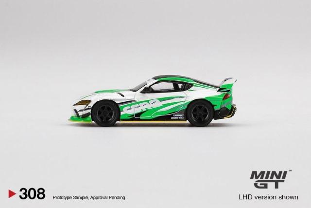 予約  TSM MINI-GT LBWK限定 1/64 トヨタ スープラ A90 TOYOTA Supra LBWK White Green CSR2 ブリスターパック仕様