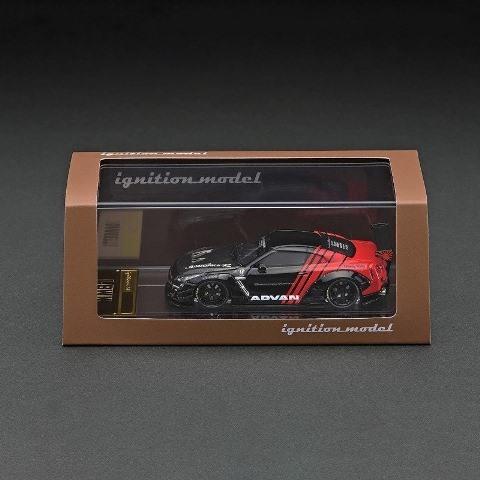 予約 IG2371 イグニッションモデル 1/64 日産 LB-WORKS GT-R R35 type 2 ADVAN Black / Red LBオリジナルパッケージ