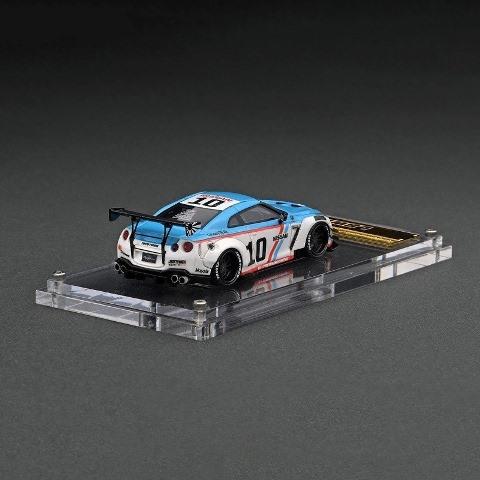 予約 IG2372 イグニッションモデル 1/64 日産 LB-WORKS GT-R R35 type 2 BRE White/Blue LBオリジナルパッケージ