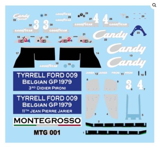 取寄せMTG001 タメオキット 1/43 フォード ティレル 009 Belgian G.P. 1979