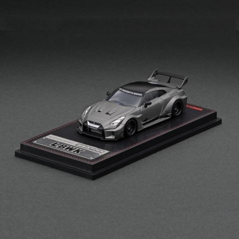 予約  イグニッションモデル 1/64 日産 LB-Silhouette WORKS GT NISSAN 35GT-RR Ver.1 TItanium Gray ※背景:LBWKオリジナル