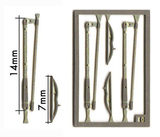 取寄せFT04 タメオキット   Compasses wiper type A 4 pieces 60s 70s