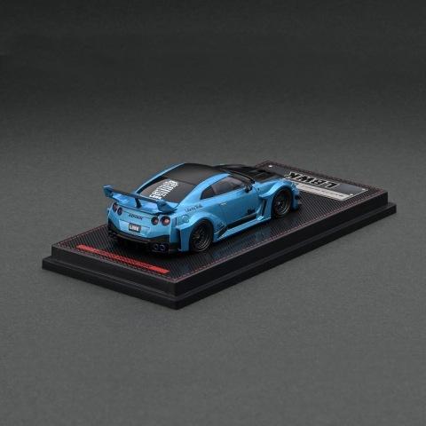 予約  イグニッションモデル 1/64 日産 LB-Silhouette WORKS GT NISSAN 35GT-RR Ver.1 Light Blue Metalic ※背景:LBWKオリジナル