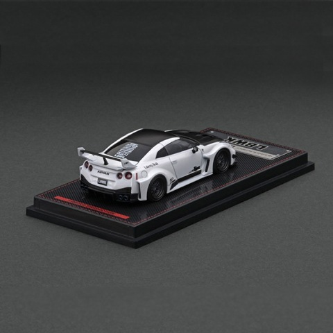予約  イグニッションモデル 1/64 日産 LB-Silhouette WORKS GT NISSAN 35GT-RR Ver.1 Pearl White 加藤渉フィギュア付き ※背景:LBWKオリジナル