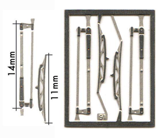 取寄せFT06 タメオキット   Compasses wiper type 4 pieces Imsa