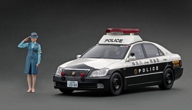新品IG2048 イグニッションモデル 1/18 トヨタ クラウン GRS180 神奈川県警 自動車警ら隊001号 WEB限定 フィギュア付