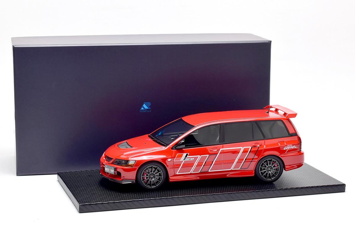 新品RW18010102 リアルウィン 1/18 三菱 ランサー エボリューション � ワゴン  Red with Ralliart