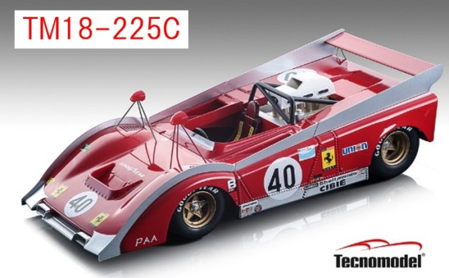 予約TM18-225C テクノモデル 1/18 フェラーリ 712 カンナム ワトキンスグレン 1972 #40 NARTチーム J.P.Jarier