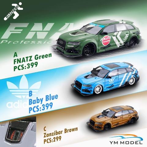 予約 YMAD01 YM Model x Runner 1/64 アウディ Audi RS6 DTM FNATZ Green 限定399台