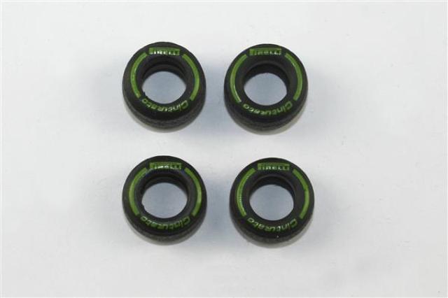 取寄せPWT25 タメオキット   1 set rain intermediate tyres green Pirelli 2011-2016