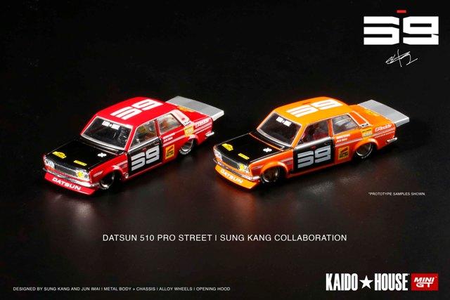 予約 KHMG003 TSM MINI-GT KAIDO HOUSE 1/64 日産 ダットサン 510 プロストリート SK510 レッド (左ハンドル)