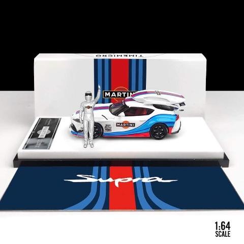 予約  TM Time Micro 1/64 トヨタ LB スープラ Toyota Supra A90 マルティーニ Martini ホワイト フィギュア カーキャリア付き